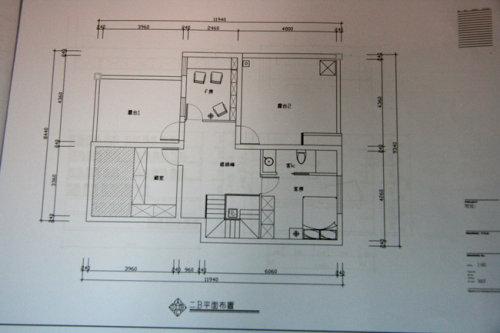 楼上平面图 房屋装修水电平面图 水电改造线路平面图房屋
